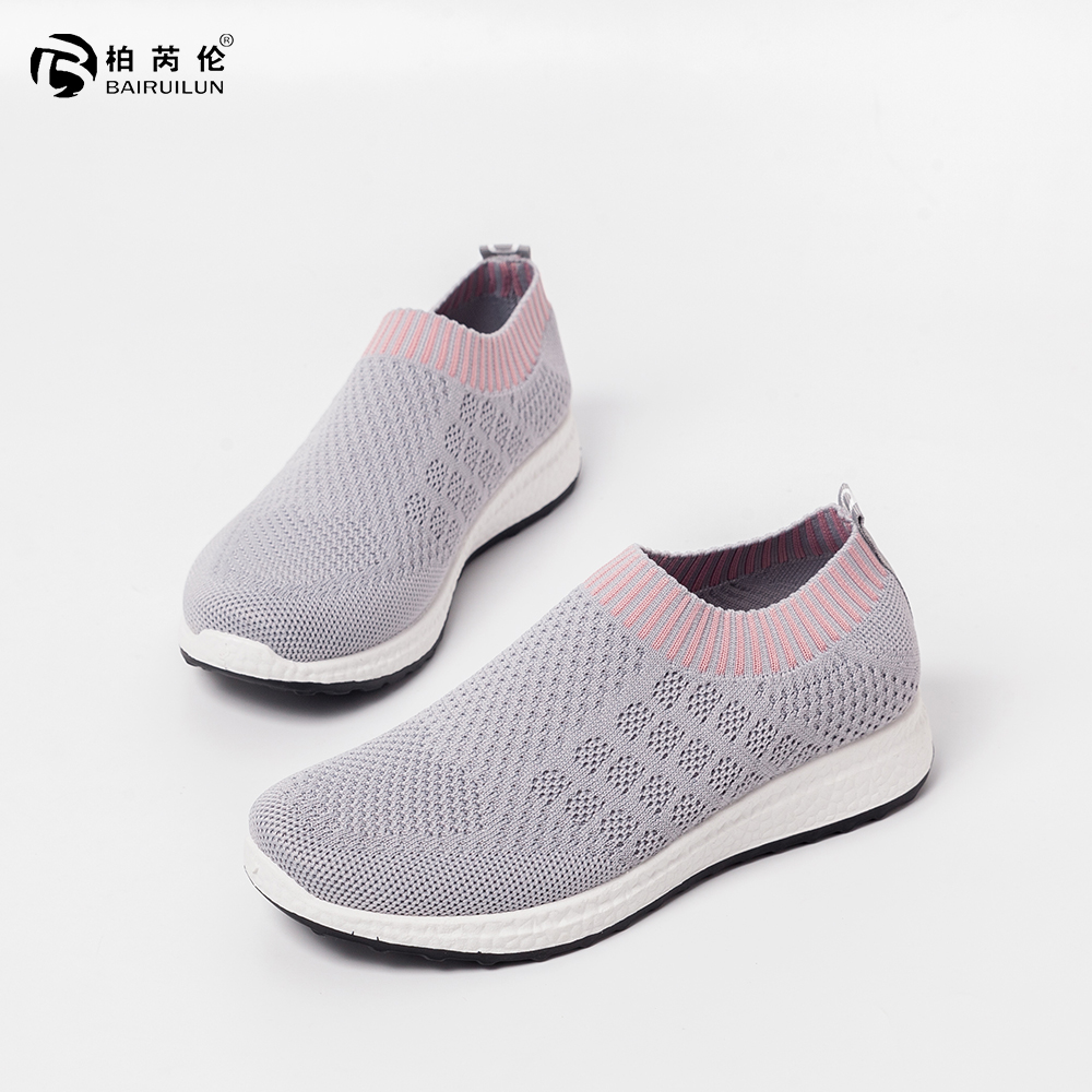 BAIRUILUN Women's Socks Sports Customized Breathable Shoes Lazy Casual Sneakers
