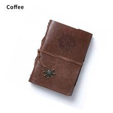 Ретро-блокнот на спирали, дневник, блокнот, винтажный пиратский якорь, чехол из искусственной кожи, сменная канцелярия, Дневник для путешест...(Китай)