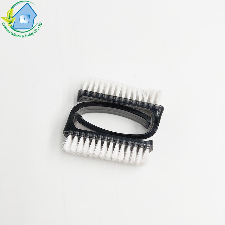 Пользовательская черная ручка, маленькая щетка для чистки ногтей