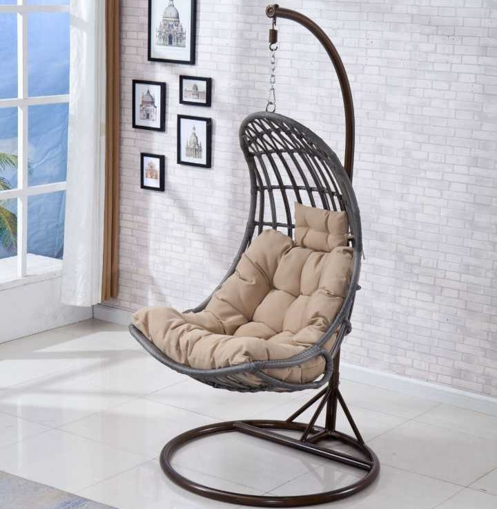 Уличная садовая мебель, цветное сиденье, ротанговый патио, кресло-качели, подвесное кресло