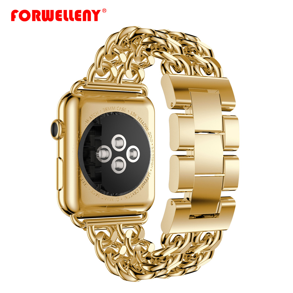 Link Bracelet strap For Apple Watch band 42mm 38mm Stainless Steel watchband for iWatch 3/2/1 belt clock accessories