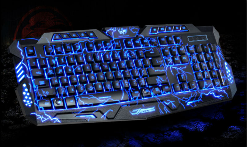 Red Purple Blue Backlights Mechanical Sense Gaming