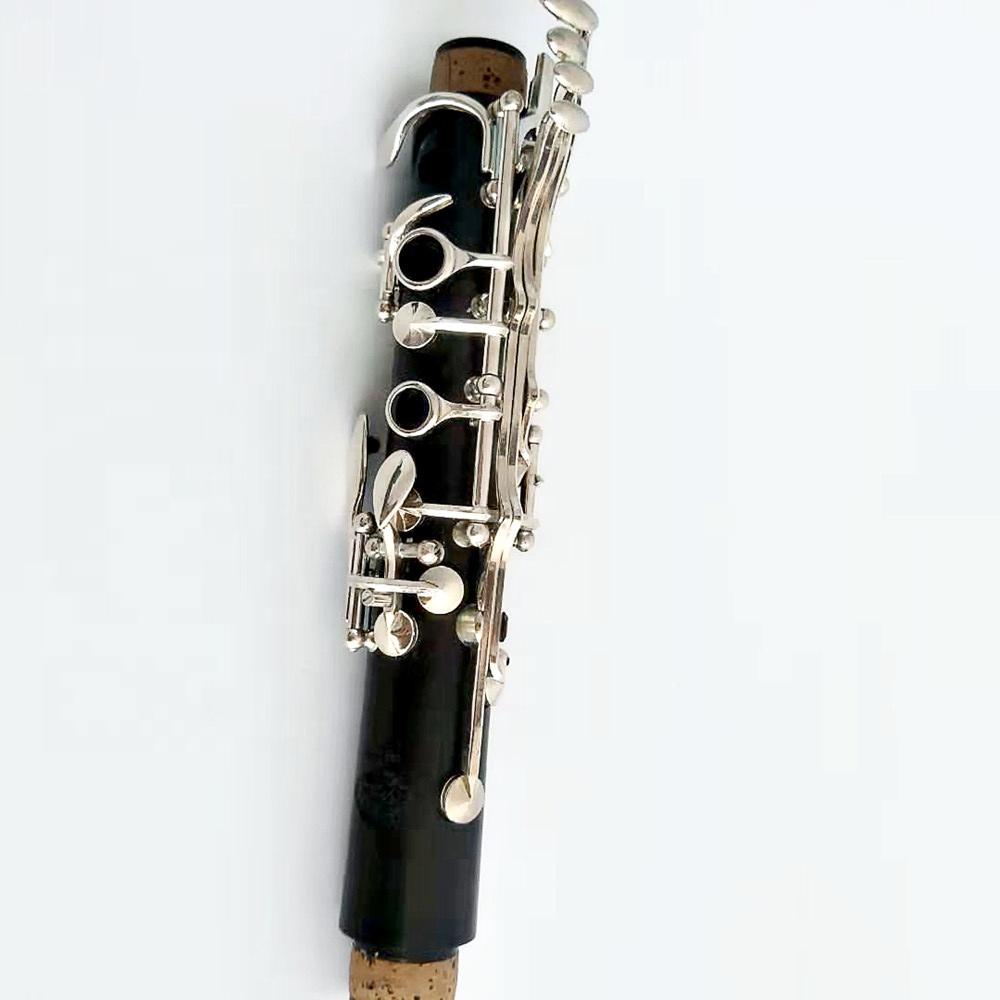Кларнет из эбенового дерева с посеребренным покрытием, 17 клавиш, кларнет Bb