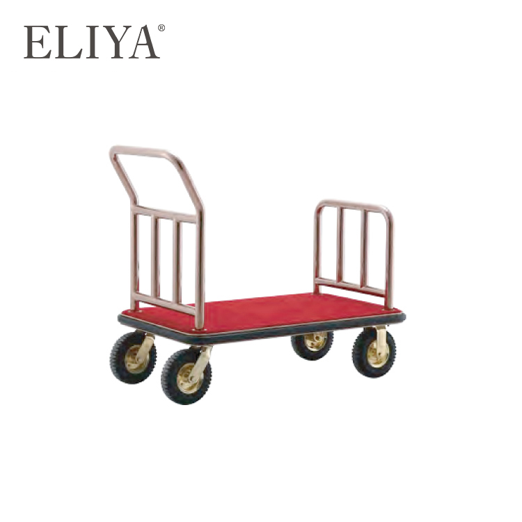 Luxury Hospitality Product Linen Trolley 5 Star Hotel Luggage Cart