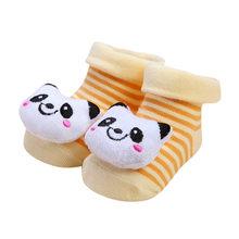 ARLONEET/Коллекция 2018 года; нескользящие хлопковые носки с рисунком для новорожденных девочек и мальчиков; тапочки; 9 см; теплые модные ботинки(China)