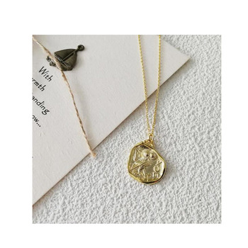 925 Sterling Silver Irregular Owl Pendant 18K Gold Plated Necklace For Women Jewelry
