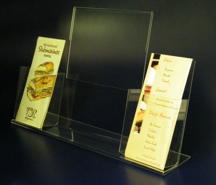 High Quality Clear Acrylic Table Stand Menu Holder Acrylic