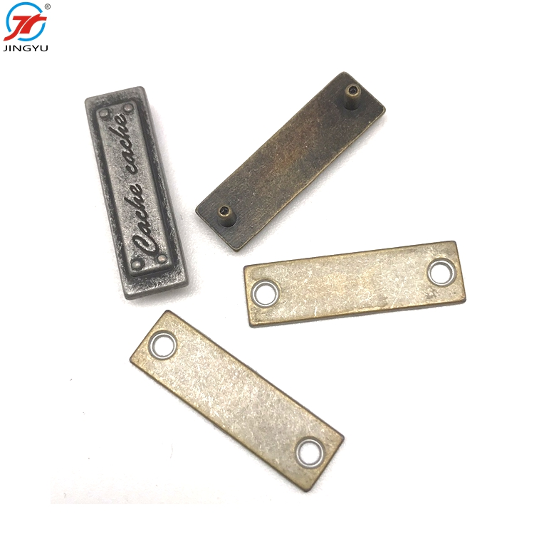 Custom Metal Hang Tag Clothing Chain Metal Label With Chain