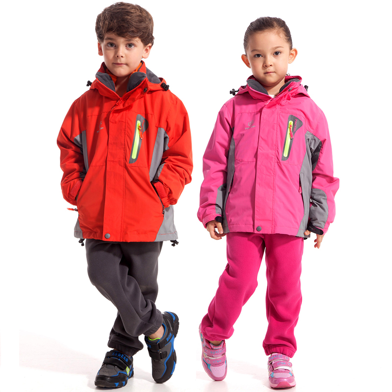 This jacket features a waterproof shell and a removable fleece liner jacket that can be worn alone as a fleece jacket on milder days, or combined with the shell for maximum weather protection in .