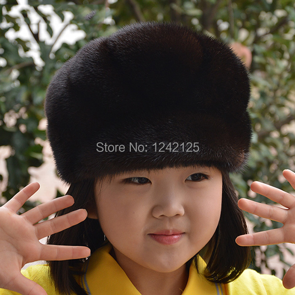 New Autumn winter parent-child mink fur hat windproof warm cute ... 86d14837b0b5d