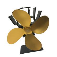 Автоматический вентилятор для дровяной печи с тепловым питанием, для дровяной печи/камина, с 4 лезвиями, крепкие ветры, гарантированное каче...(Китай)