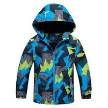 Верхняя одежда для детей; теплое флисовое пальто с капюшоном; детская одежда; водонепроницаемые ветрозащитные куртки для маленьких мальчик...(Китай)