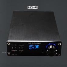 FX-Audio D802 Remote Control Input USB/Coaxial/Optical HiFi 2.0 Pure Digital Audio Amplifier 24Bit/192KHz 80W+80W OLED Display