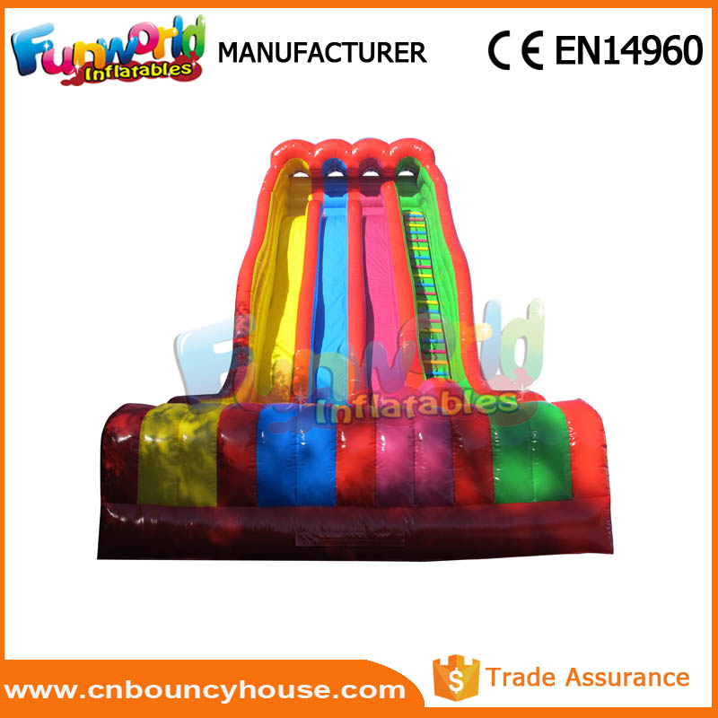 Hot kids inflatable game swimming pool slide giant inflatable slide