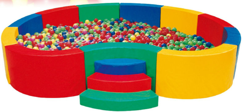 Round Commercial Indoor Ball Pit For Babies Plastic Ball