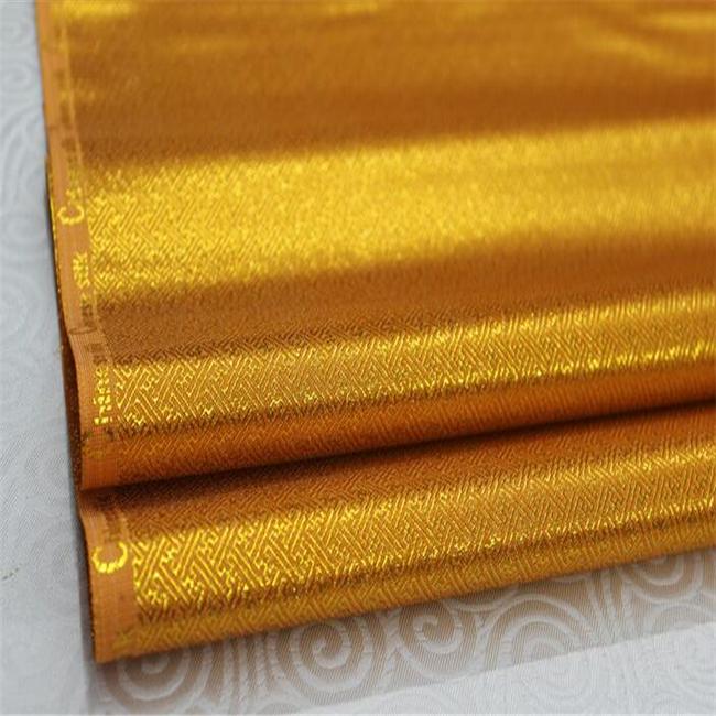 Shiny Metallic Jacquard Brocade Lurex Fabric for Stage Costume Party Decoration for Bag