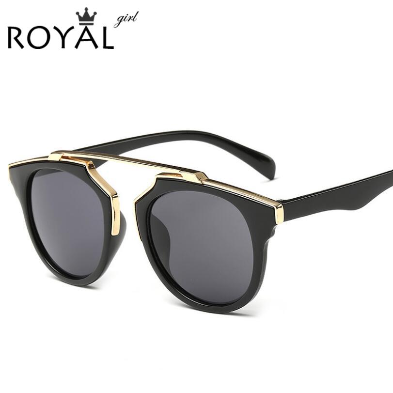 High quality women brand designer sunglasses round mirrored shades cat eye glasses ss206
