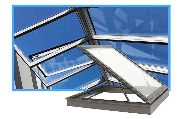 Алюминиевые световые окна для крыши