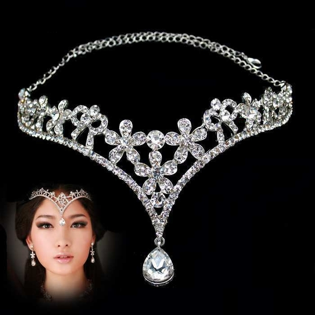 Crystal Frontlet Wedding Tiaras & Crowns For Brides ...
