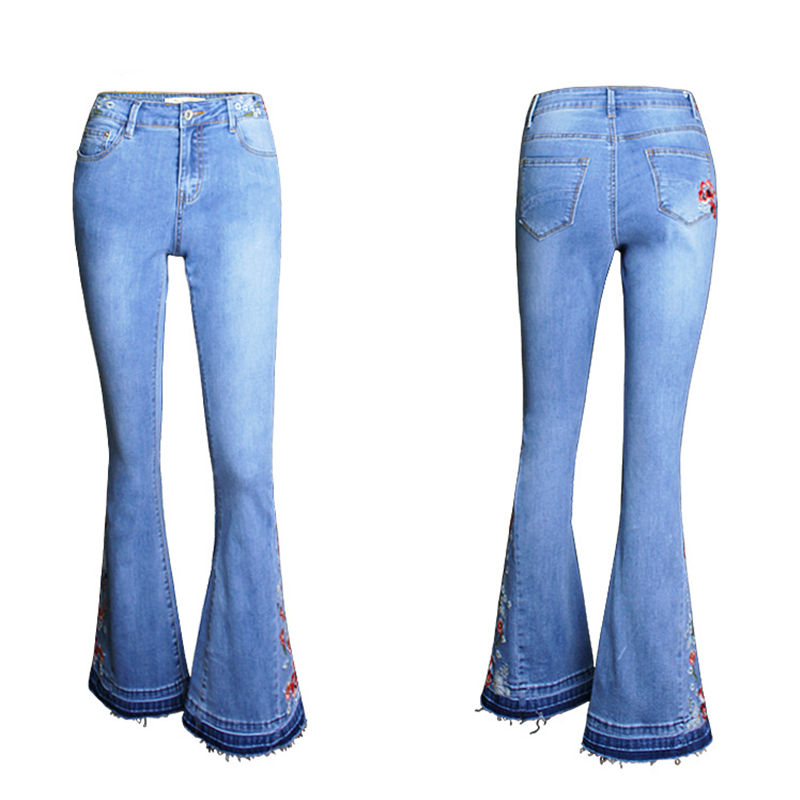 Europeo De Moda Sexy De Mujer Ancho Pies Bordado De Las Mujeres Pantalones Vaqueros Vaqueros Bordados Buy Las Mujeres Pantalones Vaqueros Flare Bordado Jeans Damas Jeans Product On Alibaba Com