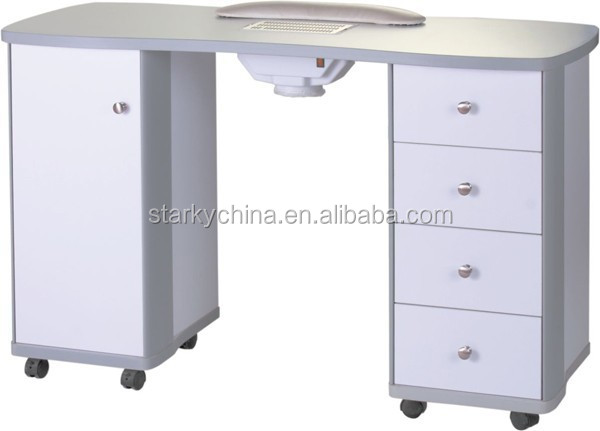 High quality white manicure table with nail dust collector