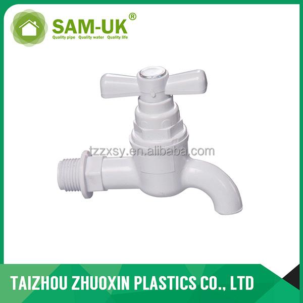 Китайский водопроводный кран из ПВХ и полипропилена
