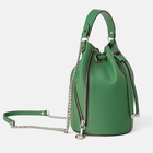 custom faux pebble leather green ladies crossbody sling bag women bucket drawstring handbag