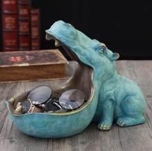 Гиппопопотам декоративная статуэтка из смолы artware скульптура декоративная статуэтка аксессуары для украшения дома(Китай)