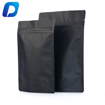 printed smell proof food packaging zip lock matte black stand up pouch bags