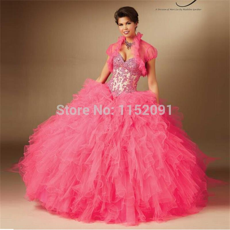 Summer 2016 Sweet Fuchsia Color Appliques Layered Ruffles ...