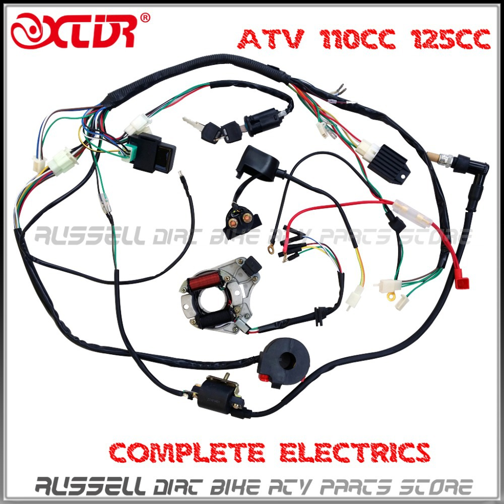Atv Coil Wiring Diagram Schematic 2019 Also Motorcycle Ignition Additionally On Quad Harness 50cc 70cc 110cc 125cc Wire