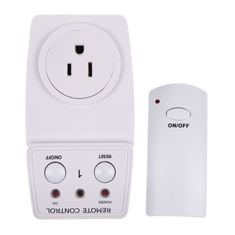 free shipping wireless remote control ac power outlet plug switch ts 831 1us e tn on. Black Bedroom Furniture Sets. Home Design Ideas