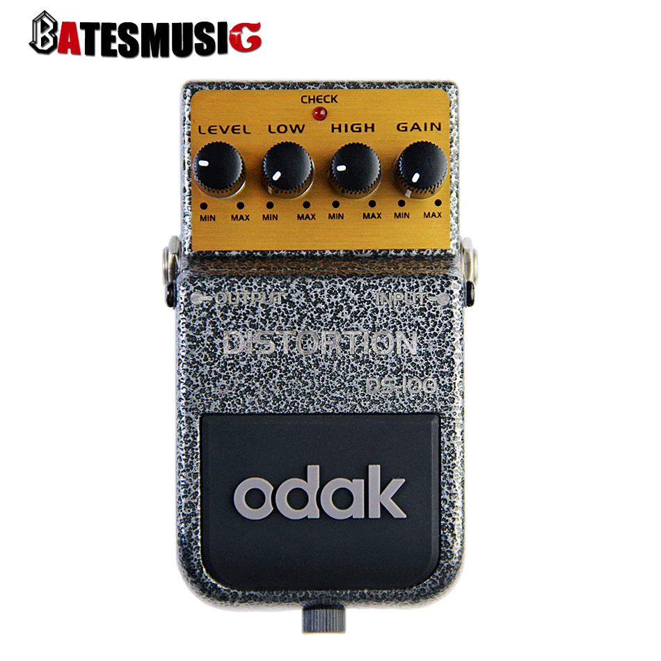 odak ds 100 rich powerful distortion effect pedal for electric guitar with long sustain solo. Black Bedroom Furniture Sets. Home Design Ideas