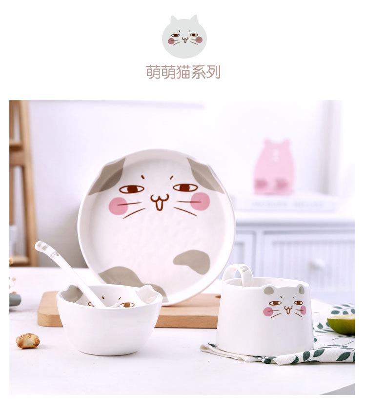 Горячая Распродажа, новый дизайн, экологичные Роскошные Мультяшные столовые сервизы из керамики