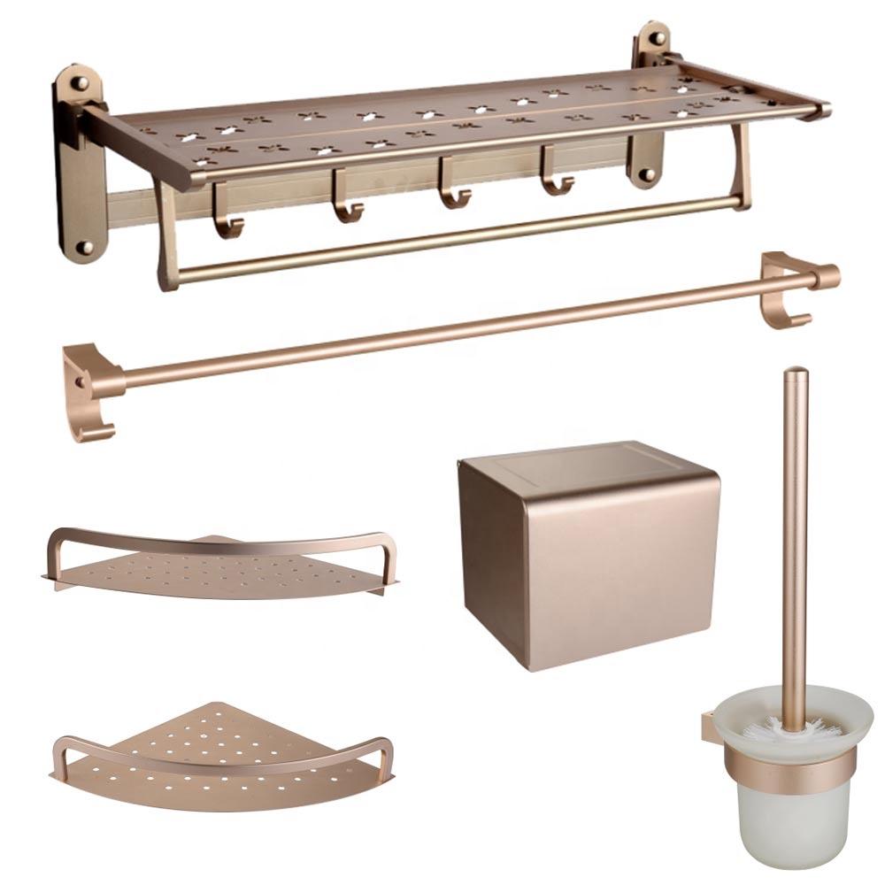 Wall Mount Bath Accessories Set Aluminium Rose Gold Bathroom Fittings Accessory Towel Bar Paper Box Buy Bathroom Accessories Set Gold Bathroom Accessory Bathroom Fittings Product On Alibaba Com