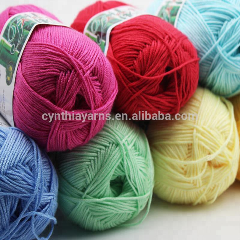 Cynthia Bamboo Cotton Crochet Yarn For Summer