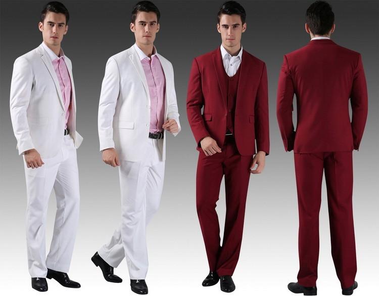 (Kurtki + Spodnie) 2016 Nowych Mężczyzna Garnitury Slim Fit Niestandardowe Garnitury Smokingi Marka Moda Bridegroon Biznes Suknia Ślubna Blazer H0285 9