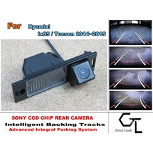 For Hyundai ix35 / For Hyundai Tucson 2014~2015 Car Reverse Rear Camera with Parking Assistance Tracks Module / imports HD CCD