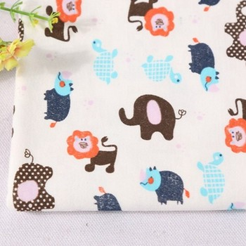 Hot sale cute animal print interlock stocklot quilting cotton fabric by the yard