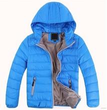 Retail New 2015 Children outerwear boys girls Winter Thick warm Solid fashion coats jackets Kids Korean