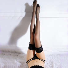 Summer style Sexy Women non slip silicone stocking Thigh High women sSilk Stockings Long high ladies