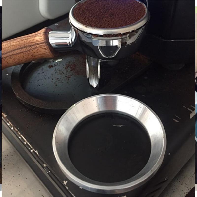 Trichter Dosierung Ring Flugabwehr Pulver für Espresso Edelstahl Werkzeuge