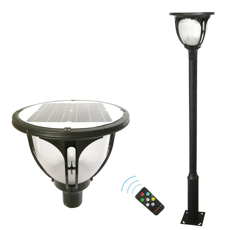 Solar street light IP 65 rate solar light garden view flood light factory price Round Top lamp