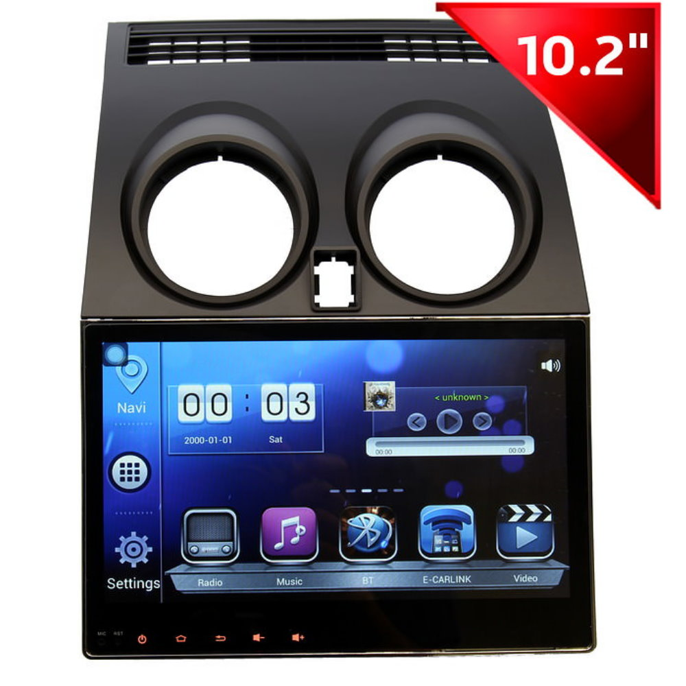 for nissan qashqai dualis 2006 2013 car android gps navigation radio audio video multimedia. Black Bedroom Furniture Sets. Home Design Ideas