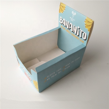 Custom Printed Cardboard Counter Display Boxes For Candy Energy Bar chocolate bar box