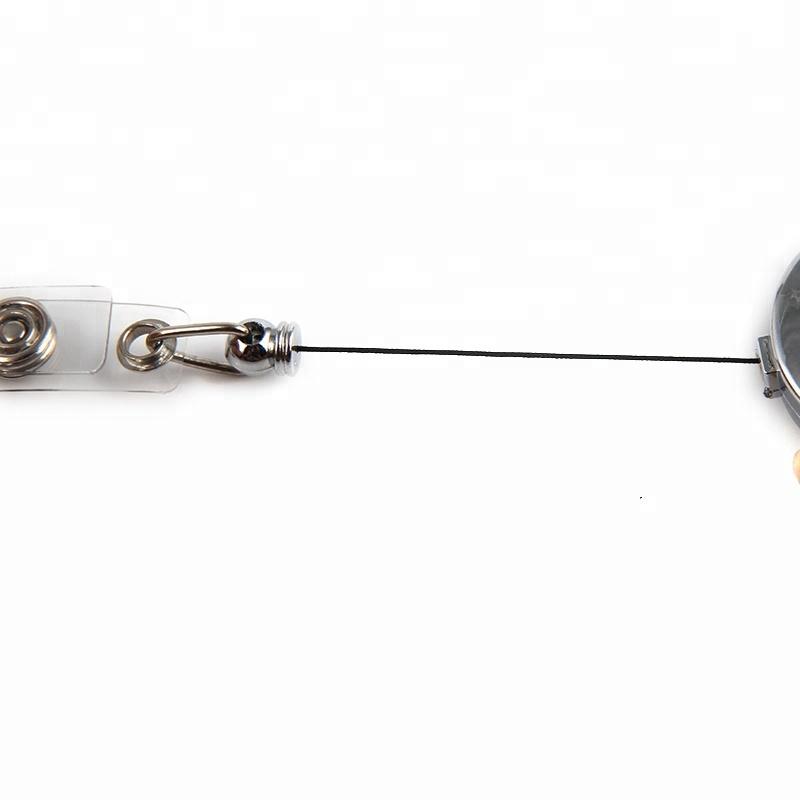 Выдвижной держатель для ID-карты с металлическими катушками, 32 мм