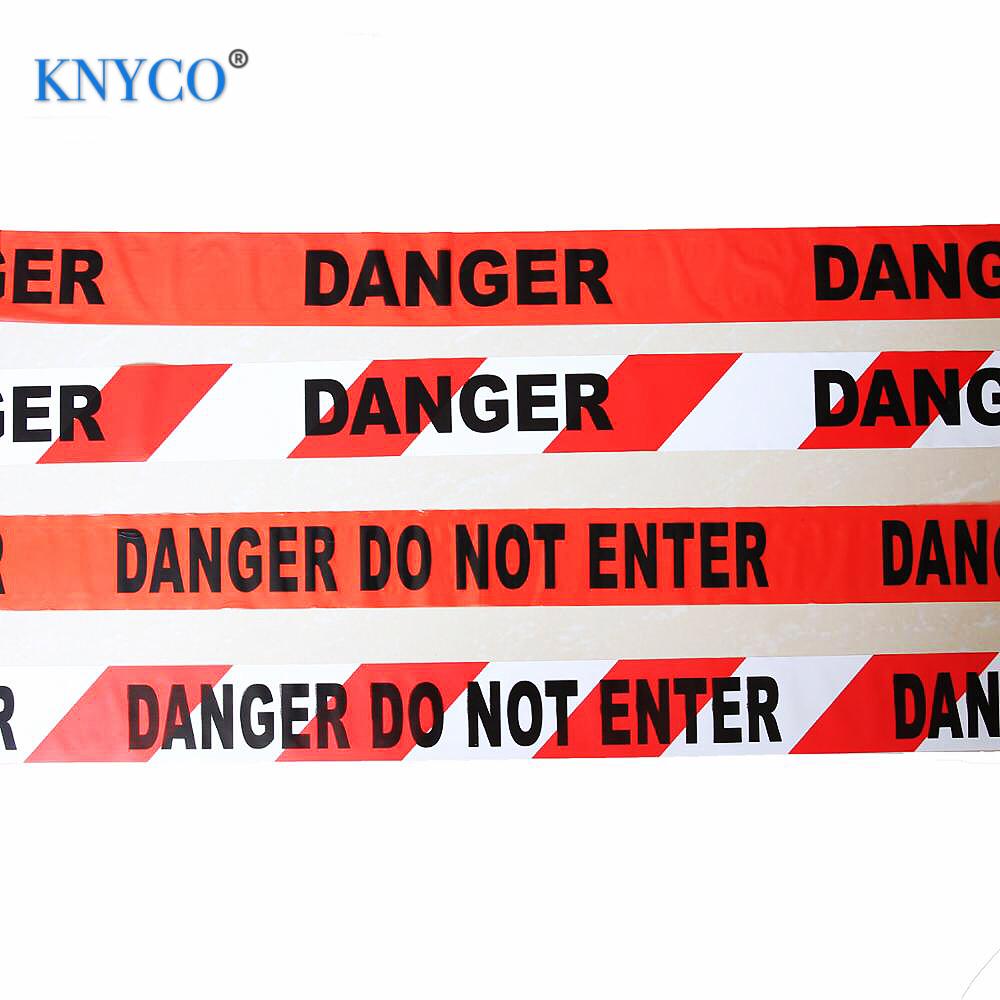 Высокопрочная печатная опасная полиэтиленовая аварийная лента для полицейских предупреждающих целей