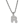 Letter R, Gold, SIlver, Rose Gold, 3 colors to choose