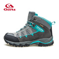 2016 Clorts Women Climbing Shoes Outdoor Boots HKM 823E F Suede Leather Hiking Boots Waterproof Non