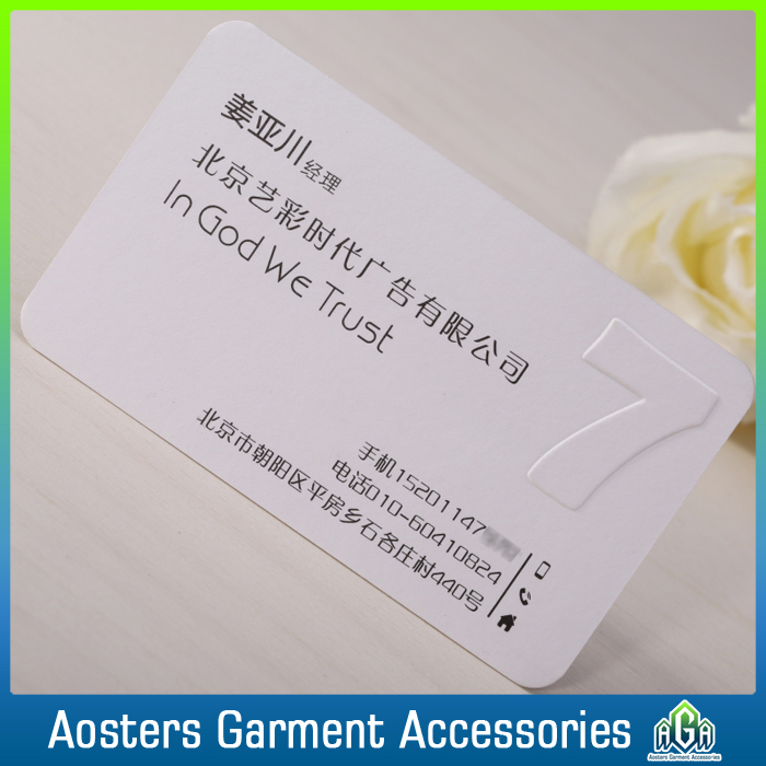 custom luxury embossed business card hot stamping foil paper business card